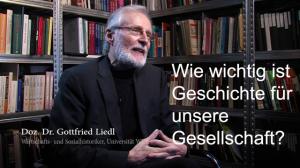 Doz. Dr. Gottfied Liedl, Wirtschafts- und Sozialhistoriker  der Universität Wien.